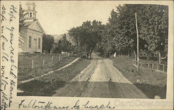 Country Road with Church West Fulton New York