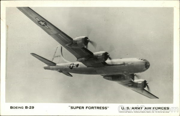 Boeing B-29, Super Fortress, U.S. Army Air Forces Military