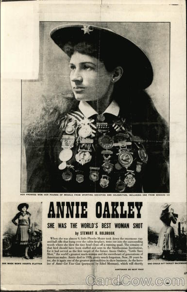 Annie Oakley Poster Reproduction Cowboy Western