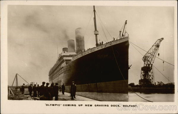 RMS Olympic Coming up New Graving Dock Belfast Ireland