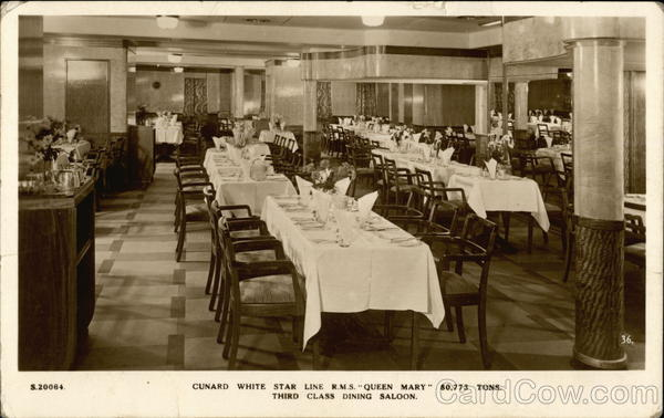 Third Class Dining Saloon Rms Queen Mary Interiors