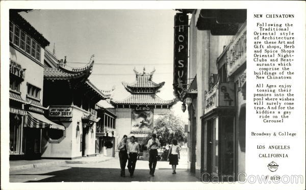New Chinatown Los Angeles California