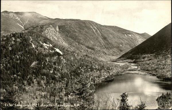 Echo Lake and Mt. Lafayette Franconia New Hampshire