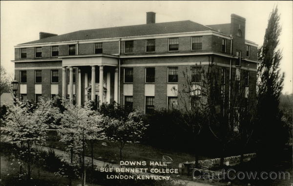 Downs Hall, Sue Bennett College London Kentucky Advertising