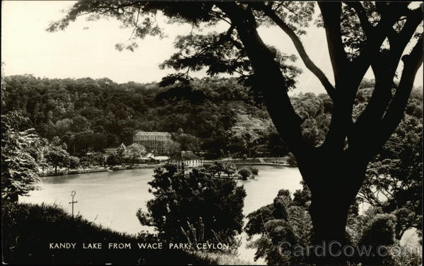 Kandy Lake from Wace Parks Ceylon Southeast Asia