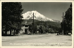 Mt. Shastafrom McCloud, California