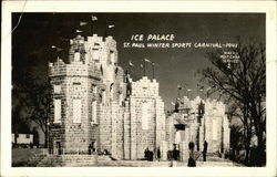 Ice Palace, St. Paul Winter Sports Carnival, 1941 Postcard