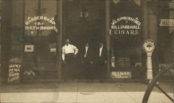 Barber Shop & Billiard Hall, Wilkins & Snyder, Cigars