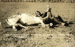 Frank McCarroll Holder of World's Record Bulldogging