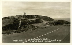 Approach to Old Spanish Light, End of Point Loma, California