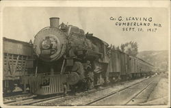 Co. G Leaving Cumberland, Md., Sept. 10, 1917