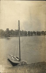 Sailboat on Lake Eara Postcard
