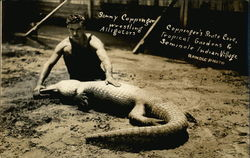Sonny Coppinger Wrestling Alligators, Coppinger's Pirate Cove, Tropical Gardens & Seminole Indian