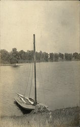 Sailboat at Shore, Lake Eara