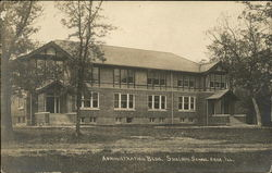 Administration Bldg., Sheldon School Area Postcard