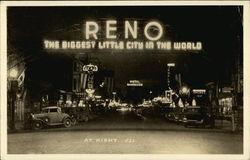 Reno at Night, The Biggest Little City in the World