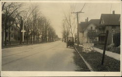 View Down Residential Street Postcard
