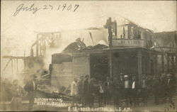 Gordon Building After Fire Burned it Down