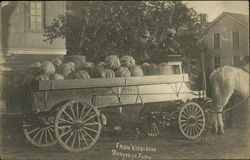 Wagonload of Squash From Vosburgh's Sunnyside Farm