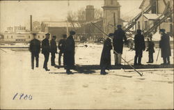 Men Working in the Snow, 1900