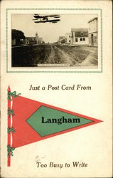 Just a Post Card From Langham Too Busy to Write