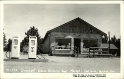 Crescent Village Grocery and Market, Cool Creek - Conoco Gas Pumps
