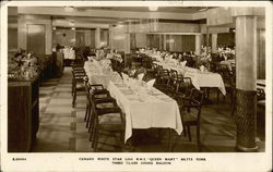 Third Class Dining Saloon, RMS Queen Mary