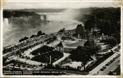 Oakes Garden Theatre from General Brock Hotel Postcard