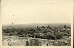 Bird's-Eye View of Scobey, Mont
