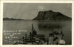 Elephant Butte and Docks at E.B. Dam