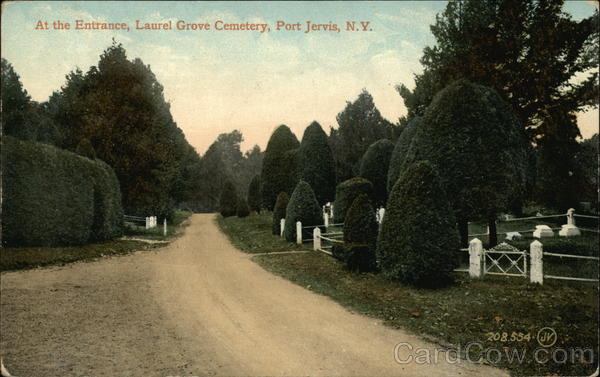 Laurel Grove Cemetery - Entrance Vintage Post Card