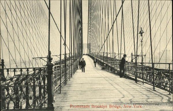 Promenade Brooklyn Bridge New York