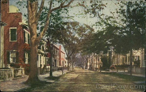 Upper High Street Nantucket Massachusetts