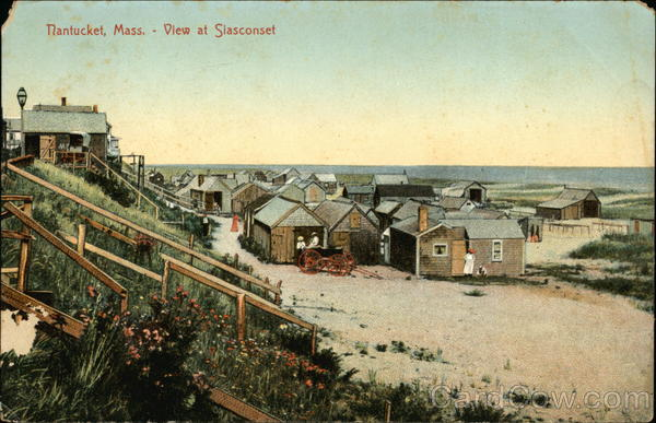 Cottages and Beach at Siasconset Nantucket Massachusetts