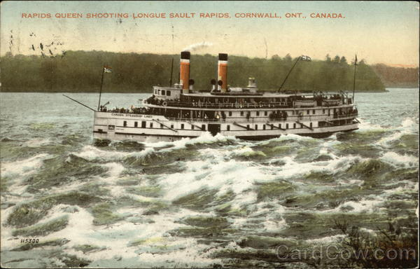 Rapids Queen Shooting Longue Sault Rapids Cornwall Canada