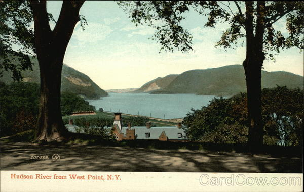 Scenic Hudson River View West Point New York