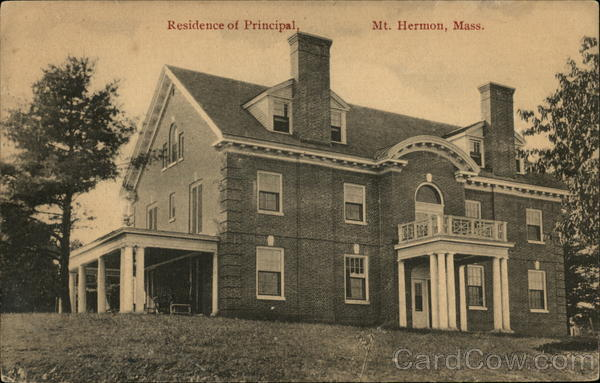 Residence of Principal Mount Hermon Massachusetts