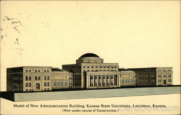 Kansas State University - Model of New Administration Building Lawrence