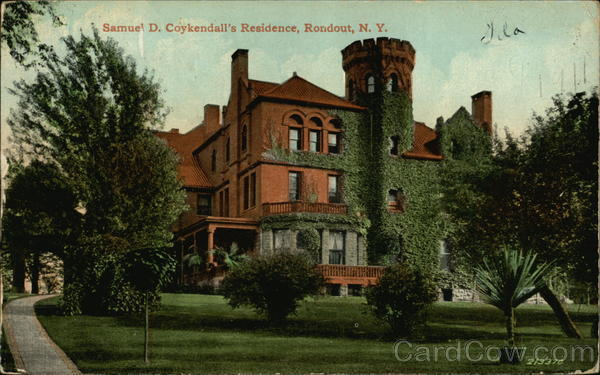 Samuel D Coykendall's Residence Rondout New York