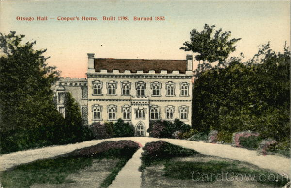 Otsego Hall, Cooper's Home Cooperstown New York