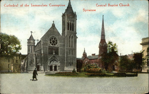 Cathedral of the Immaculate Conception and Central Baptist Church Syracuse New York