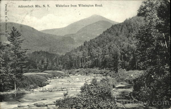 Whiteface from Wilmington Road Adirondack Mountains New York