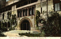 Front and Main Entrance, Hotel Ponce De Leon