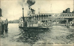 "Steamer ""Fred Swain"" clearing bridge"