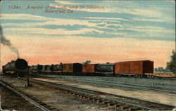 Oil Tanks Ready for Departure Postcard