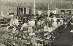 Section of Dry Goods Dept., Seeley's Dept. Store Postcard
