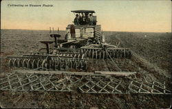 Cultivating on Western Prairie - Steam Tractor