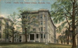 Fidelity Hall, Belmont College Postcard