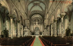 St. Anthony's Church - Interior Postcard