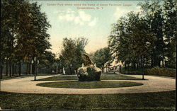 Cooper Park Where Stood the Home of James Fenimore Cooper